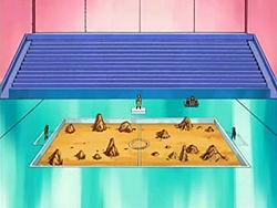 Campo de batalla del Gimnasio de Pirita en el anime