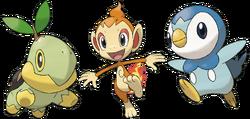 Pokémon iniciales de Sinnoh
