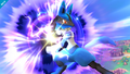 Lucario usando esfera aural SSB4 Wii U.png