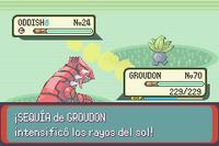 Groudon tiene la habilidad Sequía