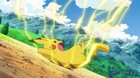 EP601 Pikachu usando contraescudo