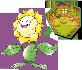 Archivo:Sunflora y su habitación en el Pokégremio.png