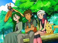 Archivo:EP500 Malta, Brock, Maya, Pikachu y Mothim observando.png