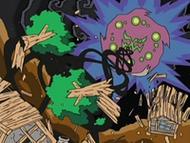 EP525 Spiritomb destruyendo las casas de la aldea en la leyenda