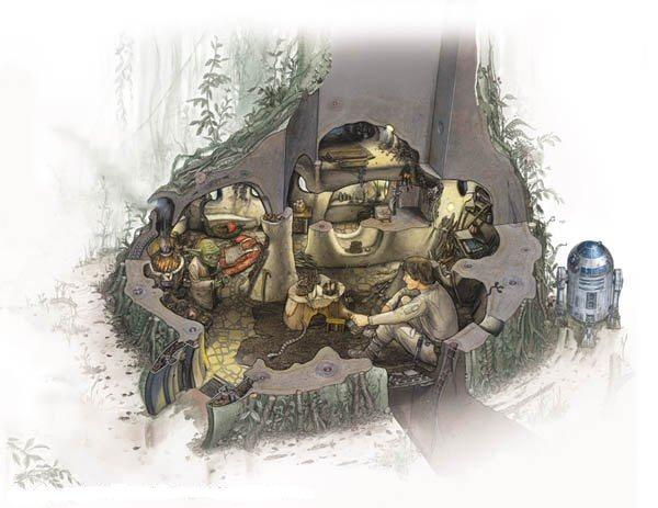 Archivo:Exterior de la Choza de Yoda.jpg