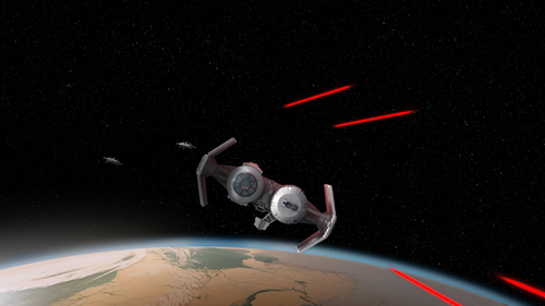 Archivo:A-wings chase Heras TIE bomber.png