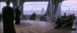 Medio día en la Cámara del Consejo Jedi