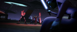 Duel at unidentified Outer Rim spaceport.png