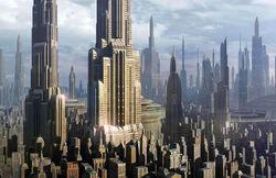 Coruscant skyscrapers