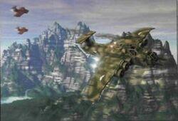 Marauder perseguido por Cazas Orkos