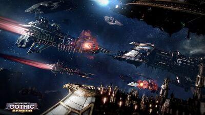 Flota imperiales vs flota caos