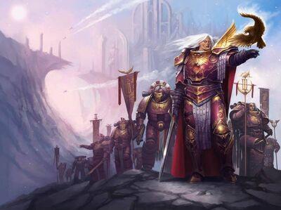 Preherejia hijos emperador fulgrim halcon