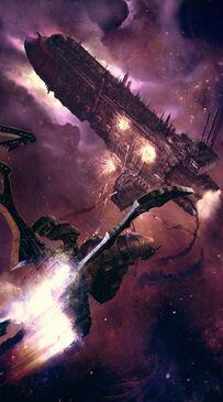 Ataque Caza Raven Eldars Oscuros Flota Imperial Wikihammer