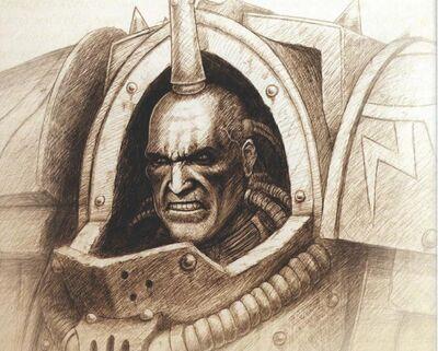 Ezekyle Abaddon Primer Capitán Hijos de Horus boceto.jpg