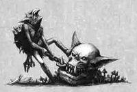 Gretchin robando piñoz de Orko