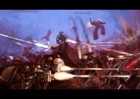 Marines cuervos sangrientos vs tiranidos