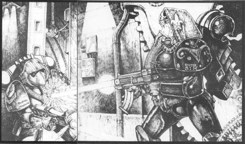 Vermillion Guerrero del Arco Iris vs Sin Adepta Sororitas Stephen Tappin 1ª Edición ilustración.png