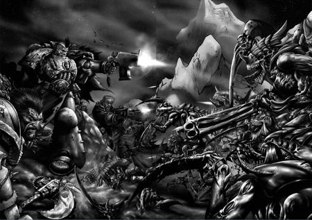 Batalla Lobos Espaciales Slavok Tiránidos en Shadrac.png