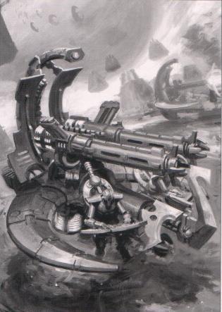 Plataforma de Aniquilación Cañon Tesla Destructor Vehiculos Necrones Wikihammer