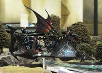 Miniatura aerodeslizador eldars oscuros