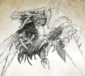 Dragon infernal boceto