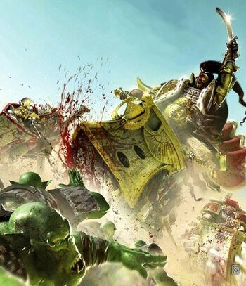 Jaghatai Khan combatiendo a los Orkos.jpg