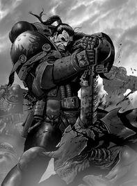 Guardia del Cuervo Espada Sierra vs Tiránidos