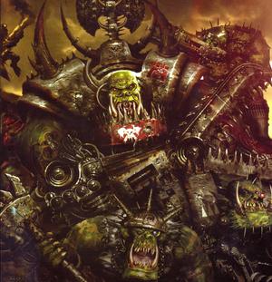 Kaudillo Orko orks color warhammer 40k wikihammer.png