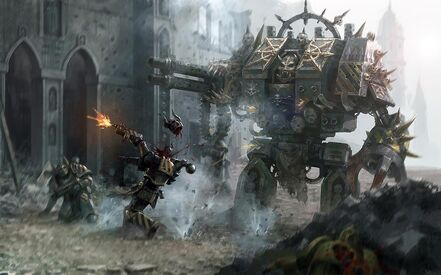 Guerreros Hierro Marines Espaciales Caos Dreadnought Warhammer 40k Wikihammer