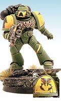 Guerreros Mantis Miniatura Tactico Servoarmadura Mark VII Aquila Marines Espaciales Astartes Wikihammer