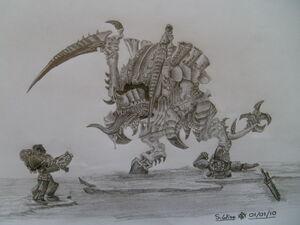 Tyranid Carnifex by Glaiceana
