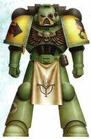 Guerreros Mantis Hermano Qui Servoarmadura Mark VII Aquila Tactico Marines Espaciales Astartes Wikihammer