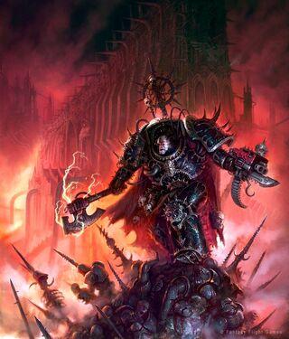 Señor del Caos Marine Espacial Campeón Paladín Warhammer 40000