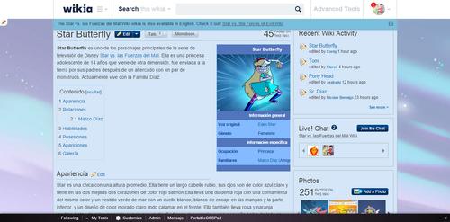 Oasis into ES SVTFOE Wiki - Infobox Star Butterfly