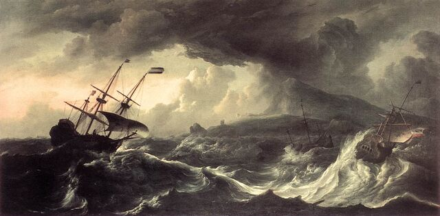 File:Ludolf Bakhuizen - Ships Running Aground in a Storm - WGA01131.jpg