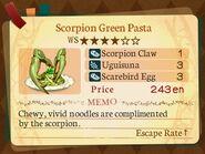 Stratum 4. Scorpion Green Pasta