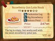Stratum 4. Strawberry-Jam Loin Steak