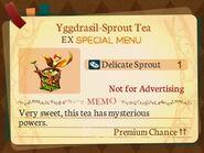 Special Menu. Yggdrasil-Sprout Tea