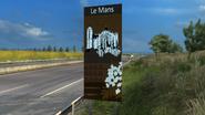 Le Mans sign
