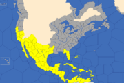 """""""Map showing North and Central American provinces Spain will try to colonise"""""""