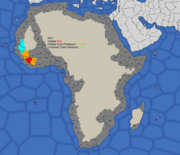 Map showing Mali's 1617 & 1700 starting position