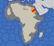 """""""Map showing Nubia's starting position in 1419"""""""