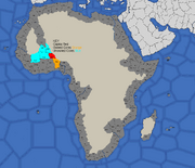 Map showing Songhai's starting position in 1617, 1700, 1773, and 1795