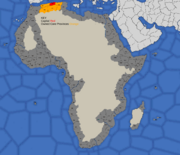 Algiers starting position in 1419, 1492, 1773, and 1795