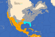 """""""Map showing Spain's Central and North American possessions in 1773"""""""