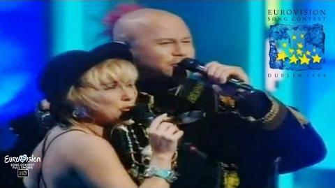 Marie Bergman & Roger Pontare - Stjärnorna (ESC 1994 - Sweden) FULL HD UPSCALED