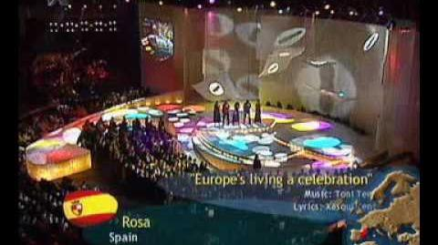 Eurovision 2002 (Spain) - Rosa - Europe's Living A Celebration