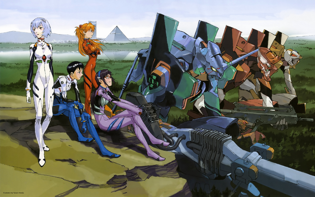 File:Pilots & Evangelions from 2.0 by Takeshi Honda.png