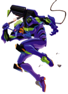 Unit 01 holding Prog Knife