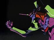 Eva-01 holding Kaworu (NGE)